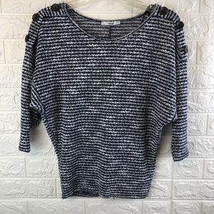 Papaya 3/4 Sleeve Sweater